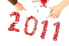 2011 nuovo anno felice Fotografia Stock Libera da Diritti