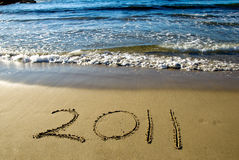 2011 nuovo anno felice Fotografie Stock