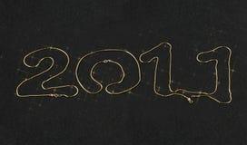 2011 nya år för chain guld Royaltyfria Foton