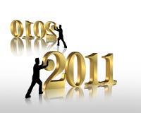 2011 nya år för helgdagsaftondiagram Royaltyfria Bilder
