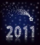 2011 nya stjärnaår royaltyfri illustrationer