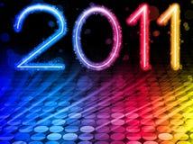 2011 ondas coloridas abstratas Imagens de Stock Royalty Free