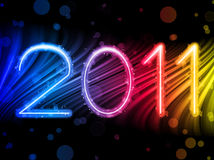 2011 ondas coloridas abstratas sobre Imagens de Stock Royalty Free