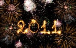 2011 ont effectué des étincelles Photo stock