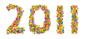 2011 ont effectué des confettis Images stock