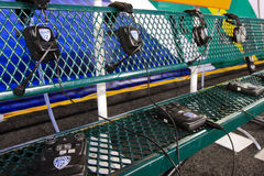 2011 PAC-12 Championship Game. The coaches communication gear ready for action at the first Pac-12 Championship game at Autzen Stadium in Eugene, OR Royalty Free Stock Image