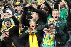 2011 PAC-12 Championship Game - Duck Fans Stock Image