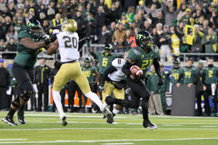 2011 PAC-12 Championship Game - LaMichael James. Oregon Ducks running back LaMichael James (21) on his way to a touchdown during the inaugural Pac-12 Stock Images