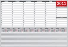 2011 planista Obrazy Stock