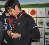 2011 powystawowych jarmarku golfa manassero matteo Verona Zdjęcia Stock