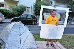 2011 protestations renfermantes en Israël Image libre de droits