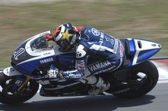 2011 PRUEBAS DEL INVIERNO DE MOTOGP: JORGE LORENZO imagenes de archivo