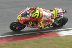 2011 PRUEBAS DEL INVIERNO DE MOTOGP: VALENTINO ROSSI foto de archivo