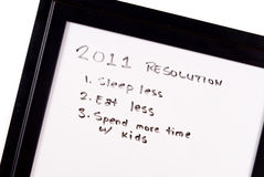 2011 résolutions d'an neuf Images libres de droits