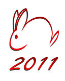 2011 rabbit. Illustartion of a abstract rabbit for the year 2011 Stock Photos