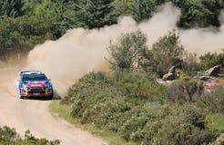 2011 Rally d'Italia Sardegna. Sebastian Loeb - Citroen - SS11 Su Filigosu royalty free stock images