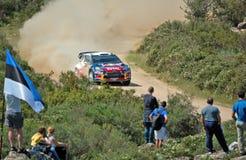 2011 Rally d'Italia Sardegna. Ogier - Citroen - SS11 Su Filigosu royalty free stock photography