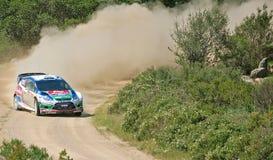 2011 Rally d'Italia Sardegna. M. Hirvonen - Ford - SS11 Su Filigosu stock photos