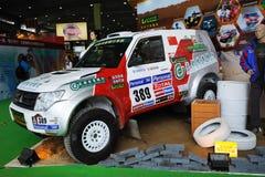 2011 rassemblement de Dakar, véhicule 389, Mitsubishi EVO V55 Photographie stock