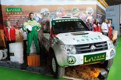 2011 rassemblement de Dakar, véhicule 389, Mitsubishi EVO V55 Images libres de droits