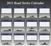 2011 Road Series Calendar Royalty Free Stock Images