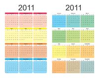 2011 rok kalendarzowy Obraz Stock