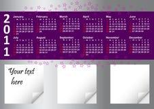 2011 rok kalendarzowy Fotografia Royalty Free