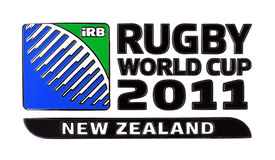 2011 Rugby World Cup - Logo. 14 September 2011, Christchurch New Zealand Stock Photo
