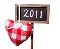 2011 scritto su una lavagna Fotografie Stock