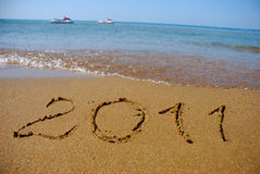 2011 At The Sea Beach Stock Photo