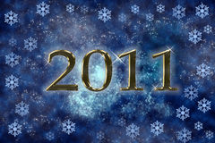 2011 shooting stars. New year background. shooting stars royalty free illustration