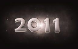 2011 - silbernes Datum 3d Stockfotografie
