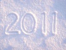 2011 in sneeuw Stock Afbeelding