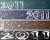 2011 sneeuwbanners (468/90) Stock Afbeelding