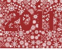 2011 snowflakes Fotografering för Bildbyråer