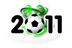 2011 soccer ball on a white background Stock Photos