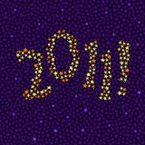 2011! in stars. New Year or graduation background with 2001! made of stars royalty free illustration