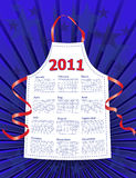 2011 Stars & Stripes Kitchen Calendar. A 2011 kitchen calendar with Stars & Stripes theme royalty free illustration