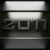 2011 steel plate on carbon Stock Photos