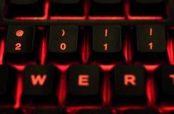 2011 sur le clavier Images stock