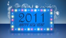 2011 szczęśliwych nowy rok Fotografia Stock