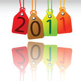 2011 tags. Reflected, abstract vector art illustration Stock Photo