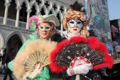 2011 traditionella venetian för karneval Arkivfoto