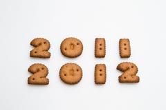 2011 und 2012 durch Biscuits Stockbild