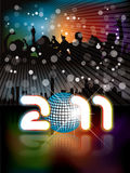 2011 Urban background with party people. In editable format Stock Illustration
