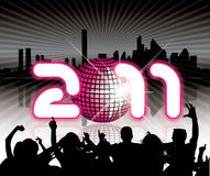 2011 Urban background with party people. In editable format Vector Illustration