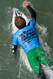 2011 US Open of Surfing. This is an image of a surfer competing in the 2011 US Open of Surfing Royalty Free Stock Photos