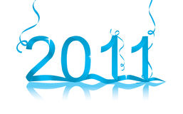 2011 Vector. New Year's eve  decoration for 2011 Stock Photos