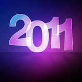2011 Vector. New Year background for 2011 Royalty Free Stock Images
