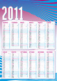 2011 VERTICAL CALENDAR IN ITALIAN. Vertical calendar for 2011 to hang on the wall in italian vector illustration